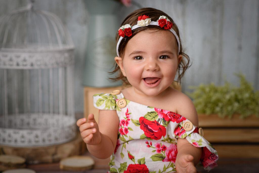 Fotos en estudio a bebé