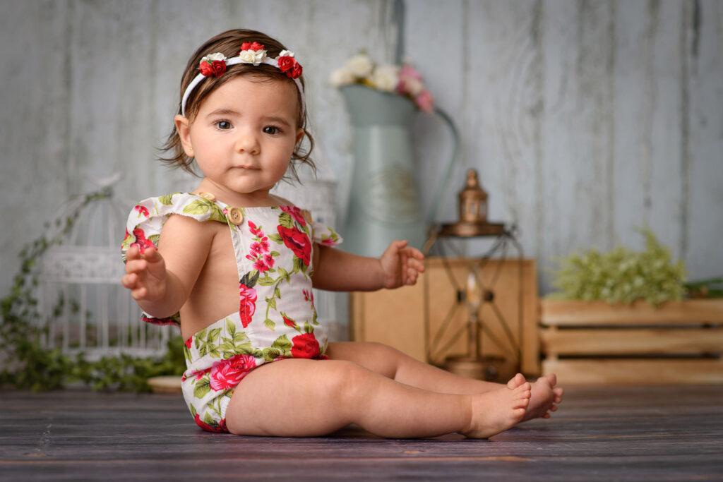 Sesión de fotos en estudio a bebé Sevilla